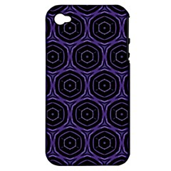 Background Colour Purple Circle Apple Iphone 4/4s Hardshell Case (pc+silicone) by AnjaniArt