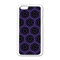 Background Colour Purple Circle Apple Iphone 6/6s White Enamel Case by AnjaniArt
