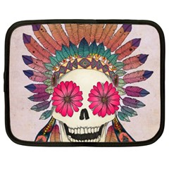 Tribal Hipster Colorful Skull Netbook Case (xxl)  by Brittlevirginclothing