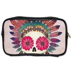 Tribal Hipster Colorful Skull Toiletries Bags by Brittlevirginclothing