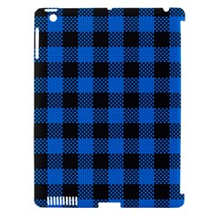 Black Blue Check Woven Fabric Apple Ipad 3/4 Hardshell Case (compatible With Smart Cover) by AnjaniArt