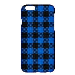 Black Blue Check Woven Fabric Apple Iphone 6 Plus/6s Plus Hardshell Case by AnjaniArt