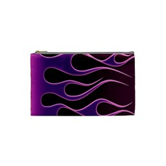 Bright Purple Flag Cosmetic Bag (small)  by AnjaniArt