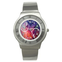 Brushes Chevron Stainless Steel Watch by AnjaniArt