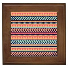 Chevron Wave Framed Tiles