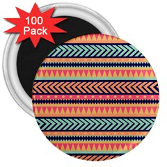 Chevron Wave 3  Magnets (100 Pack) by AnjaniArt