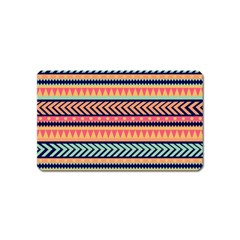 Chevron Wave Magnet (name Card) by AnjaniArt