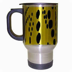 Circular Dot Selections Circle Yellow Travel Mug (silver Gray) by AnjaniArt