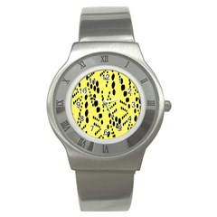 Circular Dot Selections Circle Yellow Stainless Steel Watch by AnjaniArt