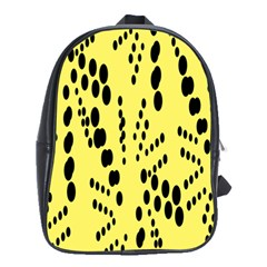 Circular Dot Selections Circle Yellow School Bags(large)  by AnjaniArt