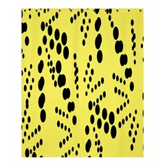 Circular Dot Selections Circle Yellow Shower Curtain 60  X 72  (medium)  by AnjaniArt