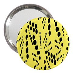 Circular Dot Selections Circle Yellow 3  Handbag Mirrors by AnjaniArt