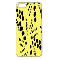 Circular Dot Selections Circle Yellow Apple Seamless Iphone 5 Case (clear) by AnjaniArt