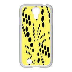 Circular Dot Selections Circle Yellow Samsung Galaxy S4 I9500/ I9505 Case (white) by AnjaniArt