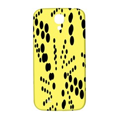Circular Dot Selections Circle Yellow Samsung Galaxy S4 I9500/i9505  Hardshell Back Case by AnjaniArt