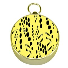Circular Dot Selections Circle Yellow Gold Compasses by AnjaniArt