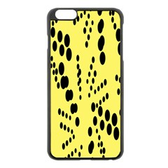 Circular Dot Selections Circle Yellow Apple Iphone 6 Plus/6s Plus Black Enamel Case by AnjaniArt