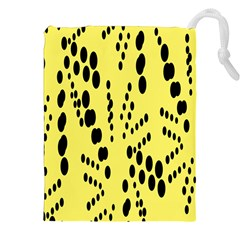 Circular Dot Selections Circle Yellow Drawstring Pouches (xxl) by AnjaniArt