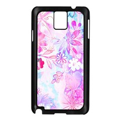 Watercolor Fairy Flowers Samsung Galaxy Note 3 N9005 Case (black) by KirstenStar