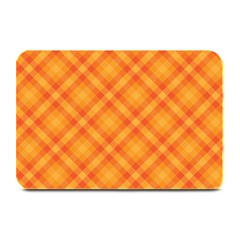 Clipart Orange Gingham Checkered Background Plate Mats by AnjaniArt