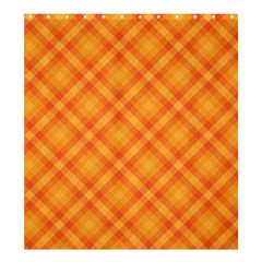 Clipart Orange Gingham Checkered Background Shower Curtain 66  X 72  (large)  by AnjaniArt