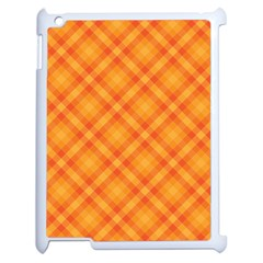 Clipart Orange Gingham Checkered Background Apple Ipad 2 Case (white) by AnjaniArt
