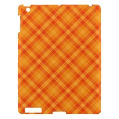 Clipart Orange Gingham Checkered Background Apple Ipad 3/4 Hardshell Case by AnjaniArt