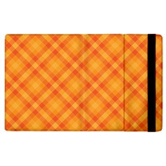 Clipart Orange Gingham Checkered Background Apple Ipad 3/4 Flip Case by AnjaniArt