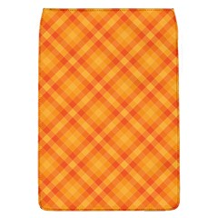 Clipart Orange Gingham Checkered Background Flap Covers (l)  by AnjaniArt