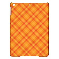 Clipart Orange Gingham Checkered Background Ipad Air Hardshell Cases by AnjaniArt