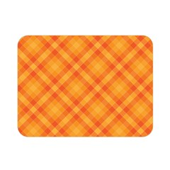 Clipart Orange Gingham Checkered Background Double Sided Flano Blanket (mini)  by AnjaniArt