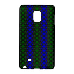 Diamond Alt Blue Green Woven Fabric Galaxy Note Edge by AnjaniArt