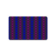 Diamond Alt Blue Purple Woven Fabric Magnet (name Card) by AnjaniArt