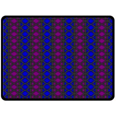 Diamond Alt Blue Purple Woven Fabric Fleece Blanket (large)  by AnjaniArt