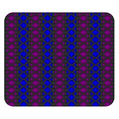 Diamond Alt Blue Purple Woven Fabric Double Sided Flano Blanket (small)  by AnjaniArt