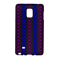 Diamond Alt Blue Purple Woven Fabric Galaxy Note Edge by AnjaniArt