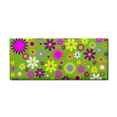Colorful Floral Flower Cosmetic Storage Cases by AnjaniArt