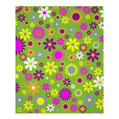 Colorful Floral Flower Shower Curtain 60  X 72  (medium)  by AnjaniArt
