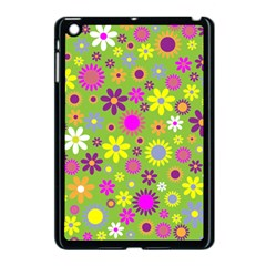 Colorful Floral Flower Apple Ipad Mini Case (black) by AnjaniArt