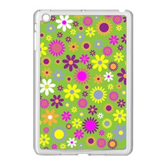 Colorful Floral Flower Apple Ipad Mini Case (white) by AnjaniArt