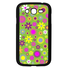 Colorful Floral Flower Samsung Galaxy Grand DUOS I9082 Case (Black) by AnjaniArt