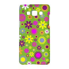 Colorful Floral Flower Samsung Galaxy A5 Hardshell Case  by AnjaniArt