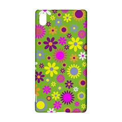 Colorful Floral Flower Sony Xperia Z3+ by AnjaniArt