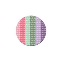 Digital Print Scrapbook Flower Leaf Color Green Gray Purple Blue Pink Golf Ball Marker by AnjaniArt