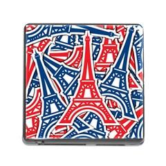 Eiffel Tower Paris Perancis Memory Card Reader (square)