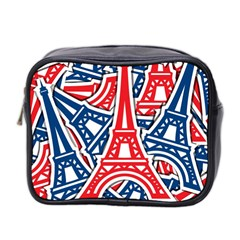 Eiffel Tower Paris Perancis Mini Toiletries Bag 2 Side by AnjaniArt
