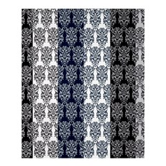 Digital Print Scrapbook Flower Leaf Colorgray Black Purple Blue Shower Curtain 60  X 72  (medium)  by AnjaniArt