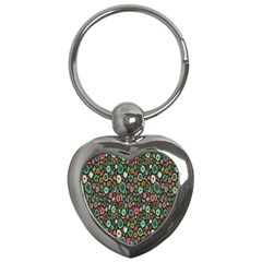Floral Flower Flowering Rose Key Chains (heart)  by AnjaniArt