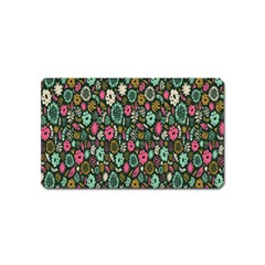 Floral Flower Flowering Rose Magnet (name Card) by AnjaniArt