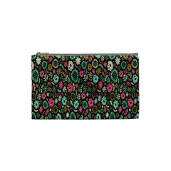Floral Flower Flowering Rose Cosmetic Bag (small)  by AnjaniArt